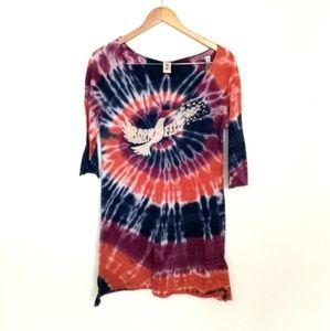 Lucky Brand Born Free Tie Dye Top